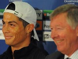 SILNÁ DVOJKA. Cristiano Ronaldo a Alex Ferguson ještě v době, kdy byli oba v