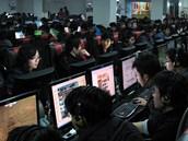 Internetová kavárna v Číně (ilustrační snímek)