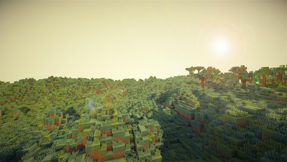 Kopie planety Zem� ve h�e Minecraft