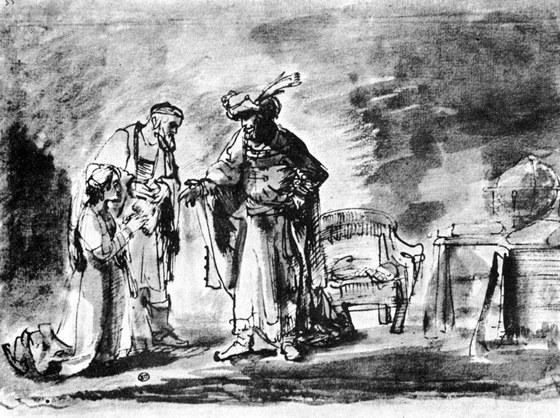 Ahasver na Rembrandtově kresbě