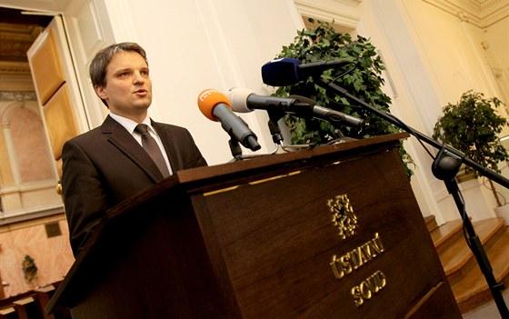 Generální sekretář Ústavního soudu Tomáš Langášek oznamuje výsledky prvního