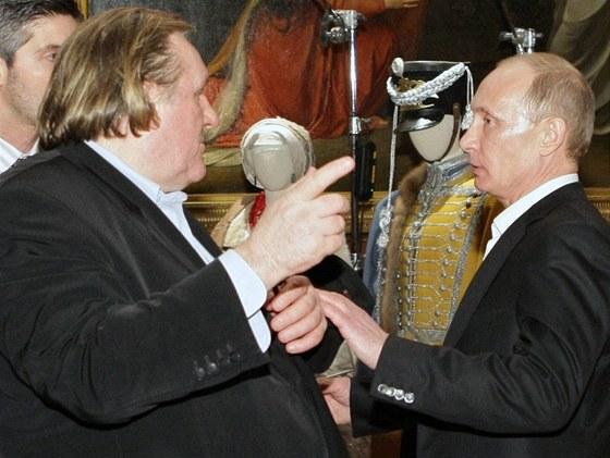 Gérard Depardieu a Vladimír Putin