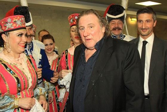 Gérard Depardieu v Moskvě