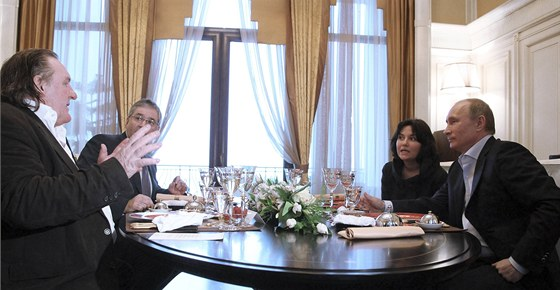 Depardieu p�i setk�n� s Putinem