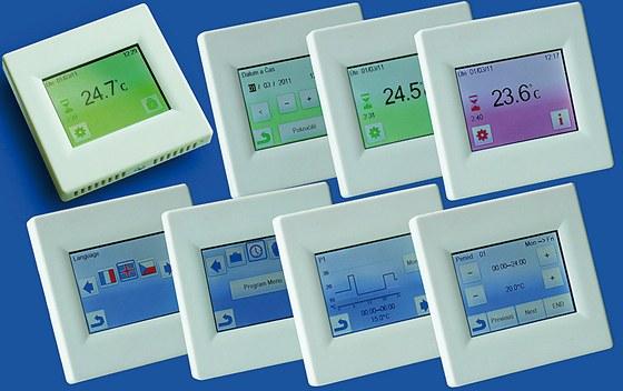 Nový dotykový programovatelný termostat Fenix TFT je předurčen pro ovládání