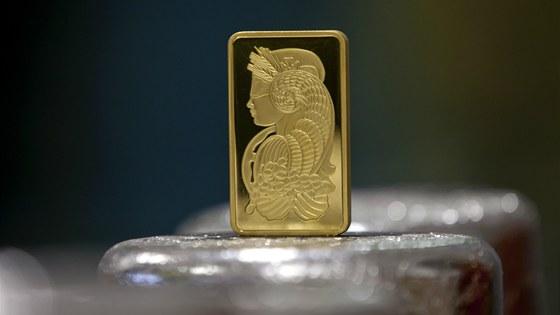 Finální podoba investiční zlaté cihly, poté co prošla certifikací ve švýcarské...