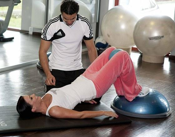 Gábina Partyšová cvičí dvakrát až třikrát týdně pod dohledem osobního trenéra