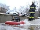 Kvůli velké vodě hasiči řešili v Karlovarském kraji z pátku na sobotu zhruba 20