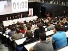 Debata prezidentských kandidátů v pražské Národní technické knihovně (8. ledna