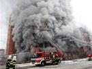 Po��r devastuje 103. skladovou budovu Svitu ve Zl�n�