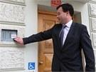 Předseda olomouckého okresního soudu Michal Jelínek přichází 2. ledna 2013 k