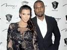 Kim Kardashianová a Kanye West strávili silvestr v Las Vegas.