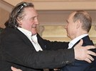 Depardieu se v So�i setkal s Putinem (leden 2013).