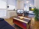 Průmyslová mozaika byla použitá v celém bytě, opticky se tak prostor zvětšil i