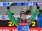 Norský skokan na lyžích Anders Jacobsen se raduje z triumfu v Ga-Pa.