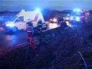 Dopravní nehoda řidičky na namrzlé silnici u hráze Rozkoše na Náchodsku