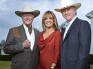 Larry Hagman, Linda Grayová a Patrick Duffy (2011)