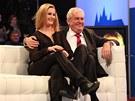Miloš Zeman s dcerou Kateřinou v Prezidentském duelu TV Prima.