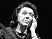 Jiřina Jirásková v roli Úrsuly Márquezova románu Sto roků samoty (1. prosince 2000)