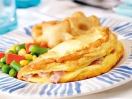 Omeleta se �unkou a s�rem