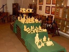 V Muzeu másla Máslovice je do 27. ledna k  vidění betlém vyrobený z 25 kg.