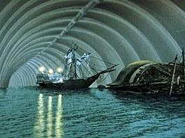 Z filmu Karla Zemana Baron Prášil: v břiše velryby