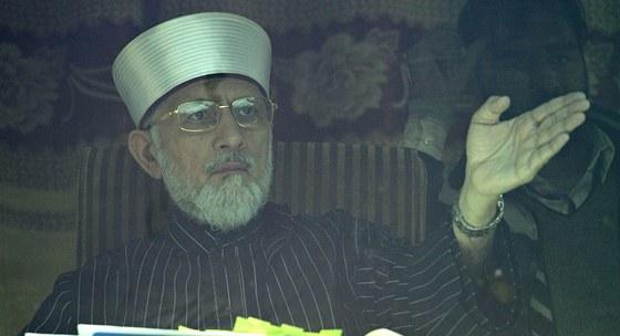 Pákistánský duchovní Muhammad Tahir Kadrí (15. ledna 2013)