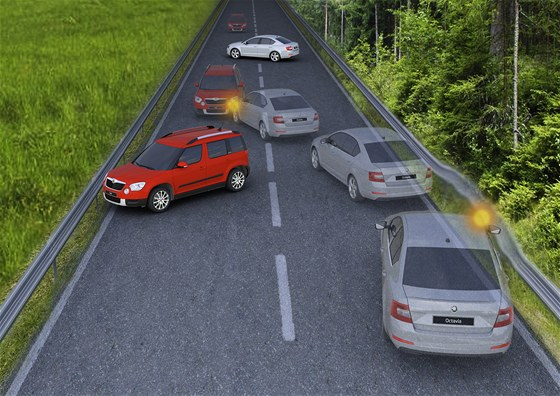Multikolizní brzda, kterou dostává nová Škoda Octavia, má zabránit nebo zmírnit