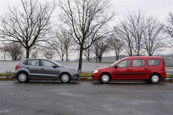 Volkswagen Polo a Dacia Logan MCV
