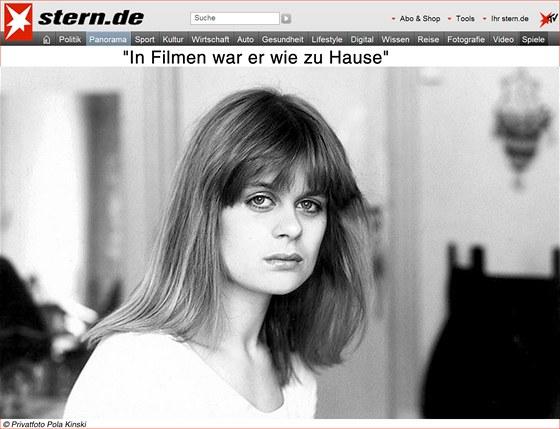 Pola Kinski, nejstarší dcera zesnulého německého herce Klause Kinského