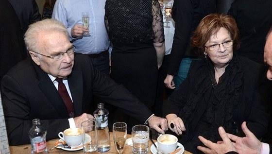 Jana Hlaváčová se s Luďkem Munzarem ukázala ve spoečnosti 2. ledna na oslavě