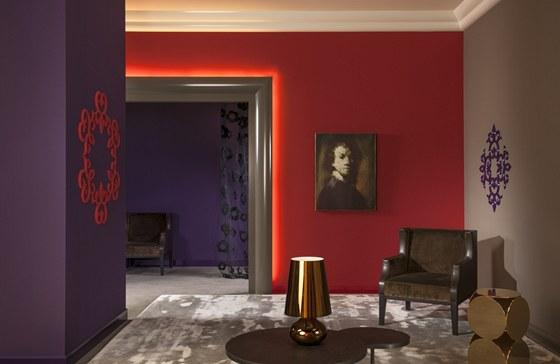 Speciální bytové dekorace od Ulfa Moritze pro značku Orac využívají LED pásky.
