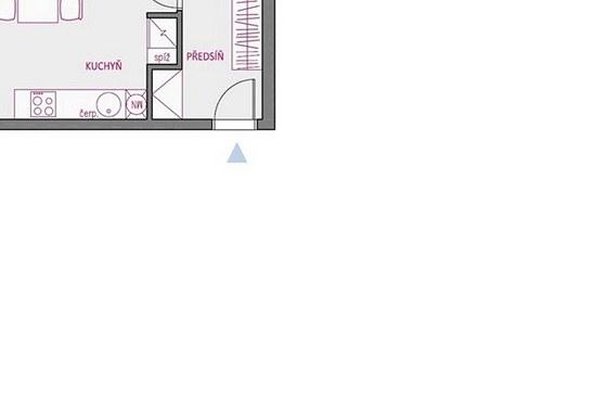 Varianta 1 má jako jediná samostatný vstup do ložnice.