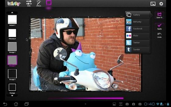BeFunky Photo Editor pro tablety nabídne zcela zdarma bohaté možnosti úprav