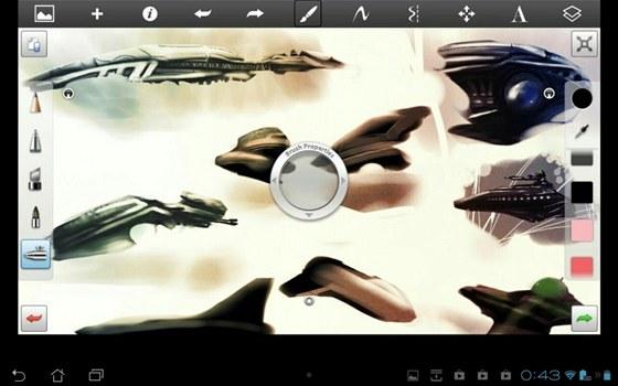 SketchBook Express for Tablets promění váš tablet vkreslicí plátno a dodá vám