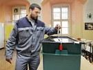 Prezidentské volby v plzeňské věznici Bory (11. ledna 2013)