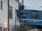 Železniční nehoda na předměstí Stockholmu (15. ledna 2012)