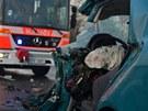 Srážka fabie s kamionem v Rudné ulici. (11. 1. 2013)