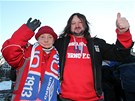 Fanou�ci brn�nsk� fotbalov� Zbrojovky uspo��dali ke stolet� klubu pochod za