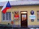 Volební místnost sídlí ve Dvorech nad Lužnicí na Jindřichohradecku v budově