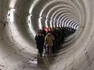 Den otevřených dveří budoucího úseku metra A (19. ledna 2013).