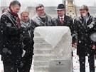 Slavnostn� poklep�n� z�kladn�ho kamene budovy superpo��ta�e v Ostrav�. (14.