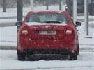 Nová Škoda Octavia bourala v kalamitě v Praze na Černém Mostě.