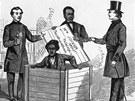 """Henry """"Box"""" Brown z otroctví uprchl v dřevěné bedně. Poté se o něj starala síť Underground Railroad."""