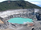 Kráter sopky Poás ve střední části Kostariky