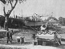 Lo� byla slavnostn� spu�t�na na vodu v roce 1930, uvedena do provozu pak o dva