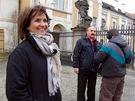 Herečka Veronika Freimanová při natáčení pořadu Tajemství rodu