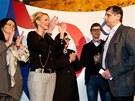 Jan Fischer uznal volebn� por�ku. (12. ledna 2013)