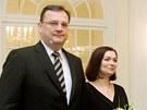 Radka a Petr Ne�asovi na tradi�n�m novoro�n�m ob�d� s prezidentem V�clavem...
