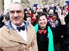 Ministra Karla Schwarzenberga p�ijeli do Prahy podpo�it starostov� z cel�